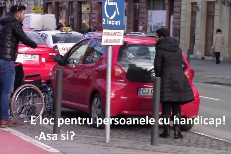Cluj-Napoca: Amenzi fără MILĂ împotriva celor care ocupă locurile de parcare ale persoanelor cu dizabilități