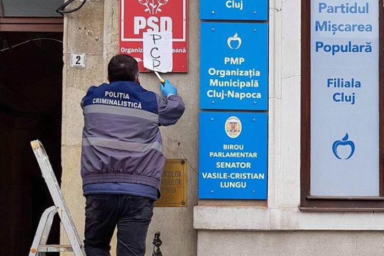 Sediul PSD Cluj a fost vandalizat! S-a aruncat benzină! Riscau să ardă ca șobolanii - FOTO