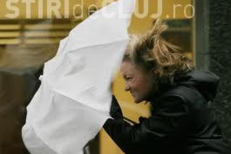 COD GALBEN de vânt puternic la Cluj. Vezi până când e valabil avertismentul