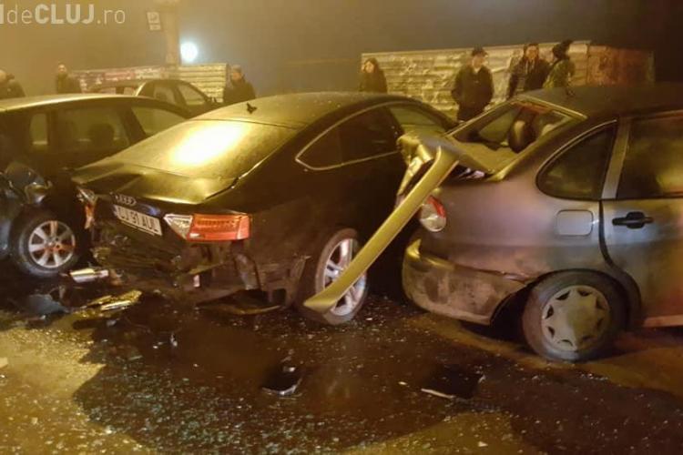 Accident pe Dorobanților. Șoferul e acuzat că făcea liniuțe - FOTO