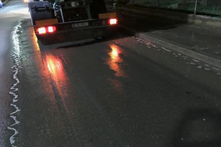 Minune în Florești! Se spală străzile noaptea. Urmează normalitatea? - FOTO