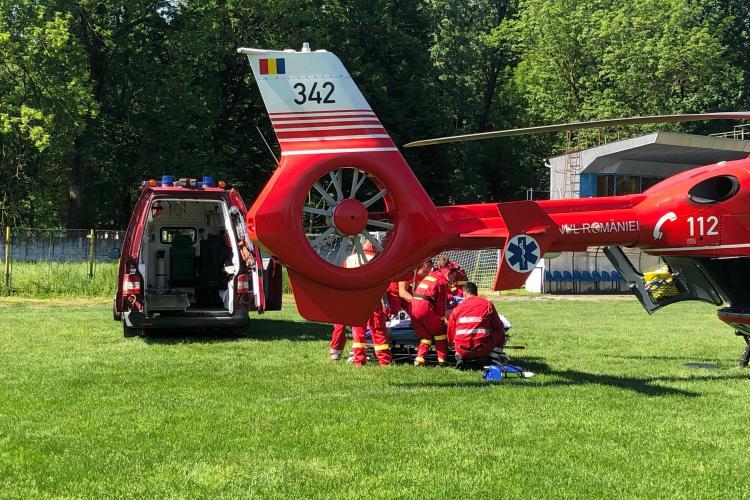 Clujeancă ranită grav de o motocositoare. A intervenit elicopterul SMURD - FOTO