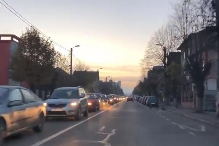 Cluj-Napoca: Pe strada Brâncuși sunt două benzi la coborâre