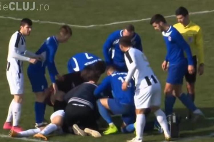 Fotbalist decedat după ce a fost lovit de o minge în piept - VIDEO