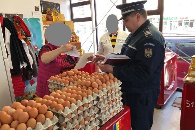 Controale în piețe, la Cluj-Napoca. Vezi câte sancțiuni au aplicat oamenii legii FOTO