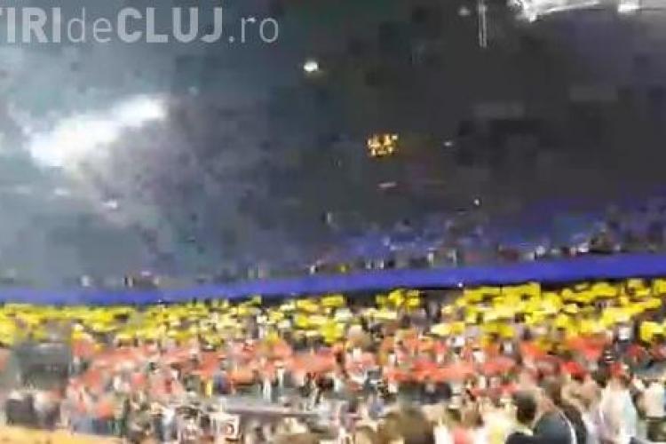 Coregrafie impresionantă la meciul România - Elveția, din Fed Cup