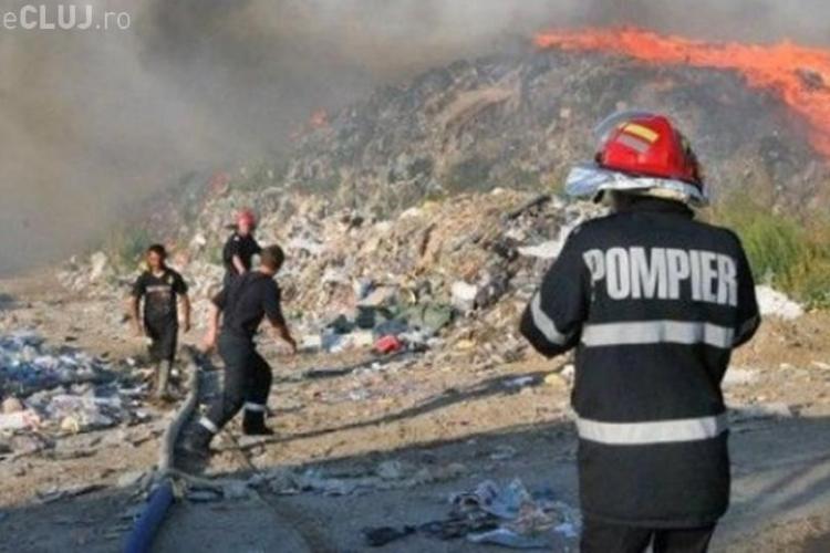 Pata Rât: Arde rampa de gunoi a Primăriei Cluj-Napoca