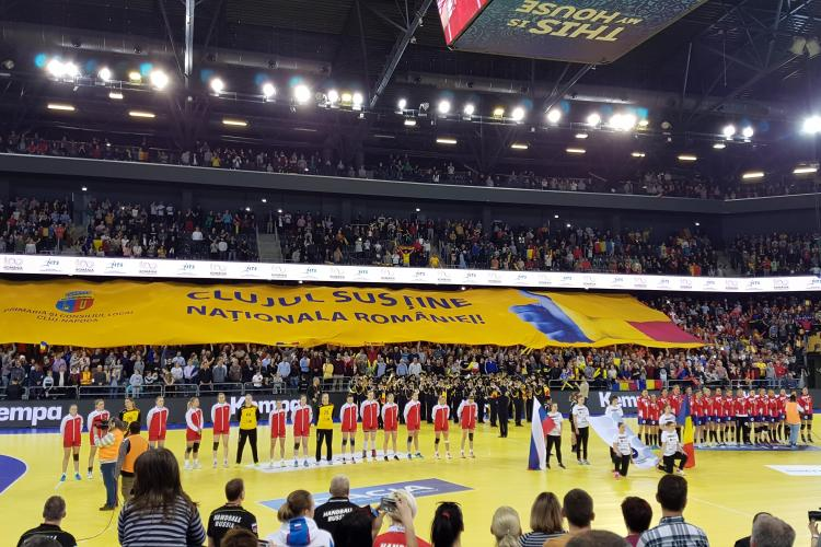 România - Rusia 26-25. Clujul a purtat noroc naționalei de handbal - VIDEO