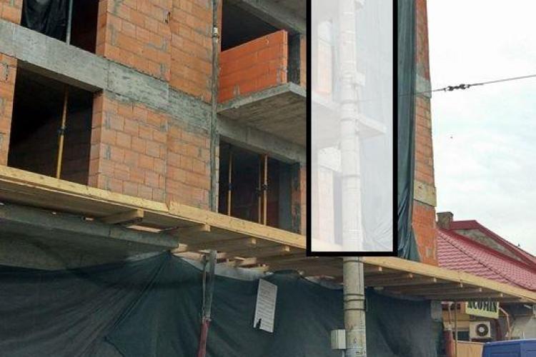 Cluj: Bloc LEGAL, cu balcoane lipite de stâlpul de iluminat? - FOTO