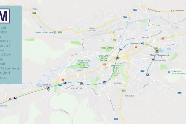 Planul metroului la Cluj-Napoca: Traseu și harta stațiilor - EXCLUSIV