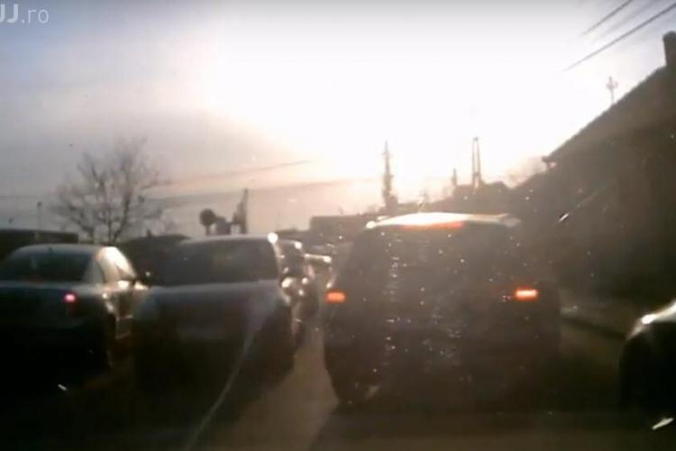 Florești: Șmecher în trafic pus la respect de șoferi - VIDEO