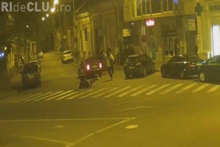 Tânăr CĂSĂPIT în bătaie în centrul Dejului - VIDEO