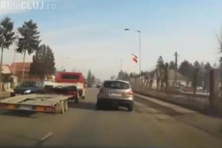 Clip de INFARCT în Florești, pe DN 1. Șoferul a lovit căruța ivită BRUSC - VIDEO
