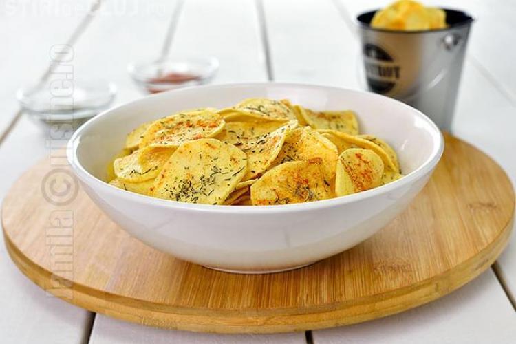 Chipsuri de cartofi ce pot fi gătite acasă