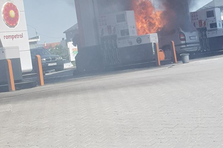 Cluj - Un tânăr și-a dat foc într-o benzinărie de pe Calea Turzii. Sinucidere din dragoste - VIDEO