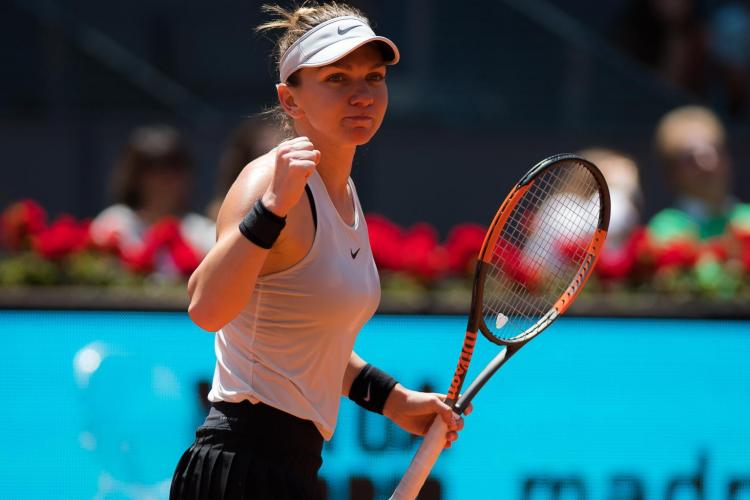 """Simona Halep s-a calificat rapid în sferturile de la Madrid. A """"executat-o"""" pe sora Karolinei Pliskova"""
