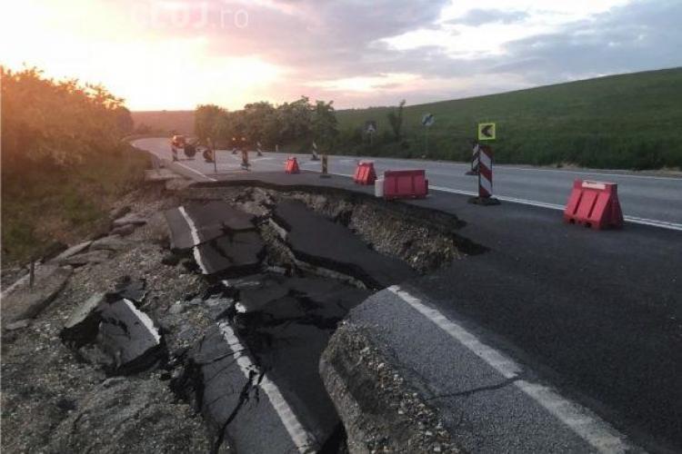 Drumul Dej - Baia Mare se surpă. Spaniolii au lucrat de mântuială