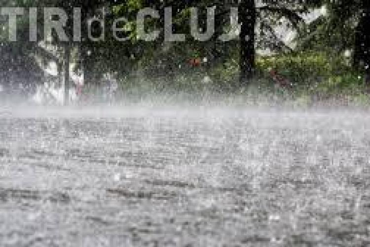 O nouă zi de cod galben de ploi la Cluj. Ce zone sunt afectate