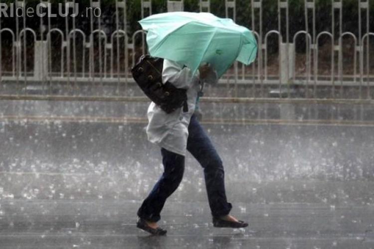 Clujul, din nou sub cod galben de ploi. Ce zone sunt afectate