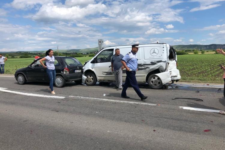Accident la intrarea în Teiuș dinspre Alba - VIDEO