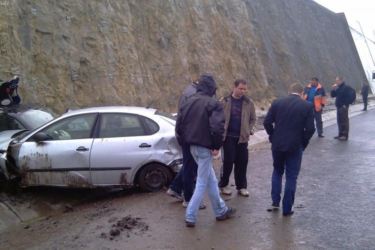Accident pe autostrada Transilvania! Un autoturism s-a rasturnat in Campia Turzii