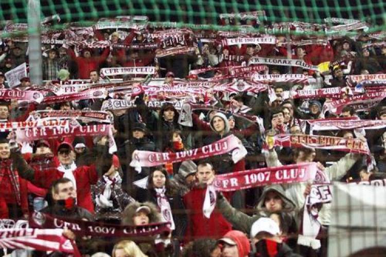 6 suporteri ai CFR Cluj au interdictie la meciul cu AS Roma