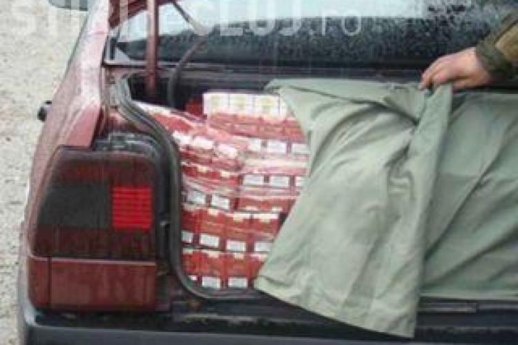 Sofer care transporta tigari de contrabanda, urmarit 60 de kilometri de ofiterii de la Crima Organizata Cluj