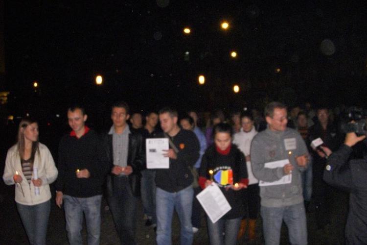 Victoria democratiei din Republica Moldova, sarbatorita la Cluj, in Piata Unirii!