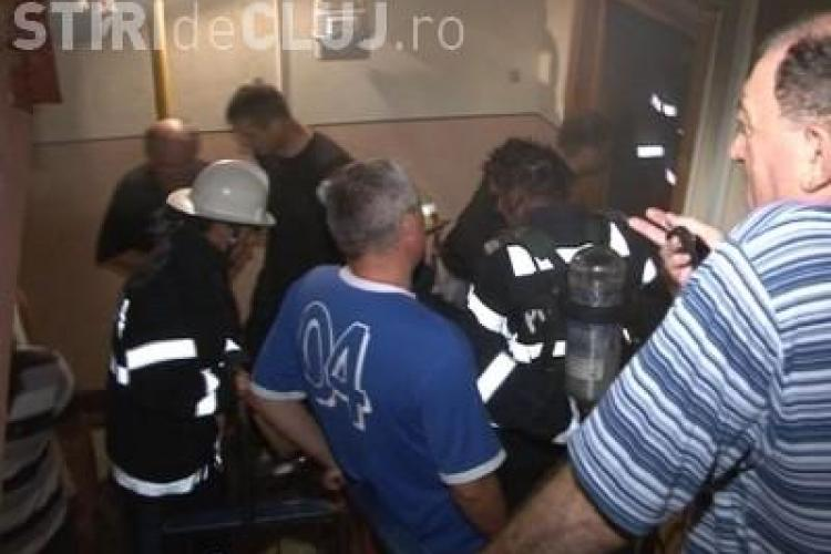 Un clujean a dat foc apartamentului in care locuia pe strada Bucuresti! Piromanul a plecat de acasa si si-a lasat casa in flacari
