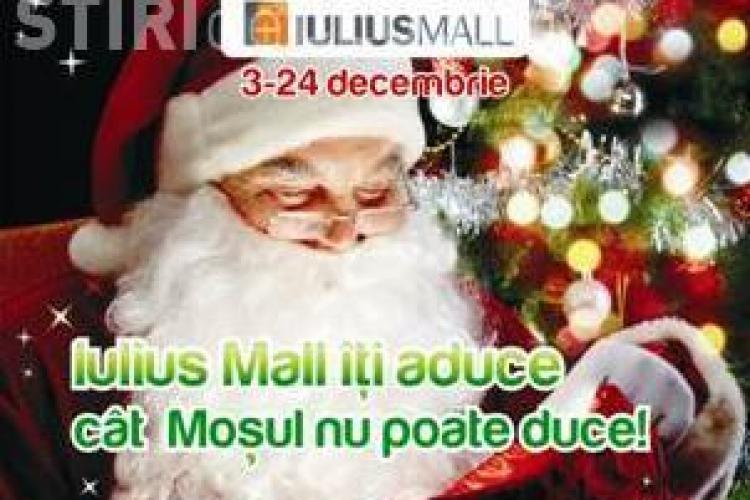 Iulius Mall Cluj si Mos Craciun si-au unit fortele pentru a umple tolba de daruri!