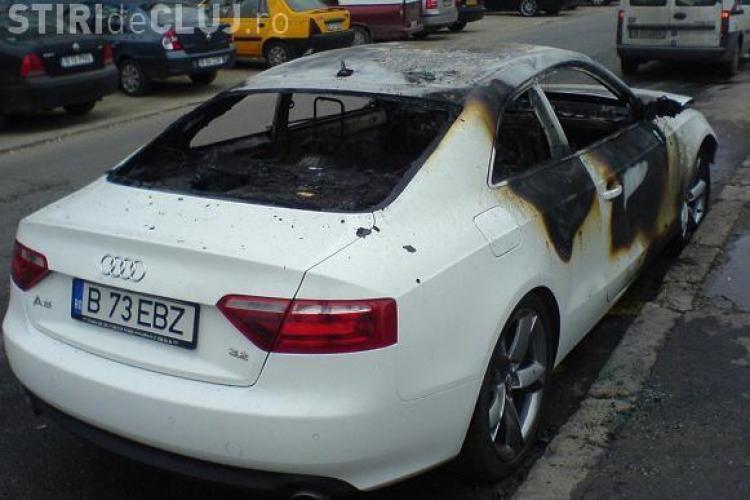 Trei autoturisme noi au ars la reprezentanta Audi din Cluj!