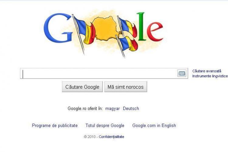 Google sarbatoreste Ziua Nationala a Romaniei, cu un logo special! - FOTO