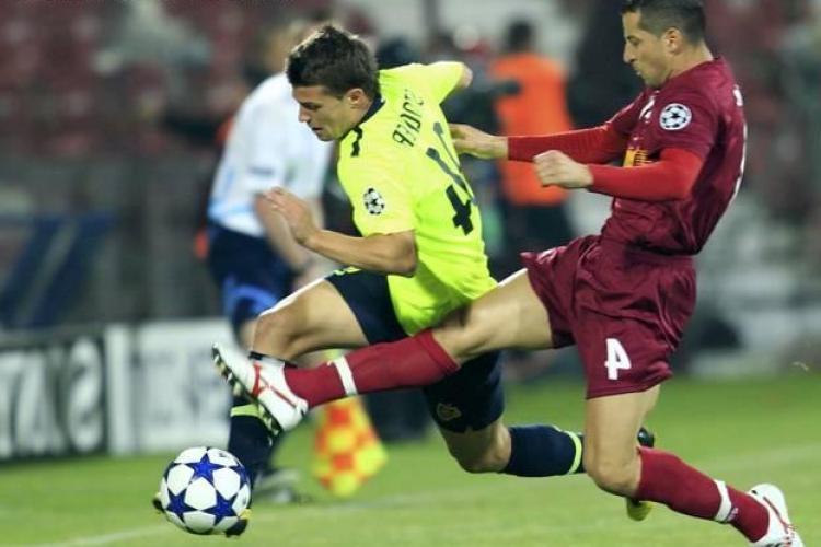 Francezul Laurent Duhamel arbitreaza meciul meciul FC Basel - CFR Cluj
