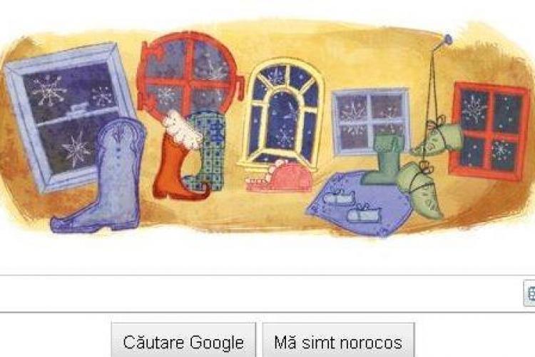 Google sarbatoreste venirea lui Mos Nicolae, cu un logo special!