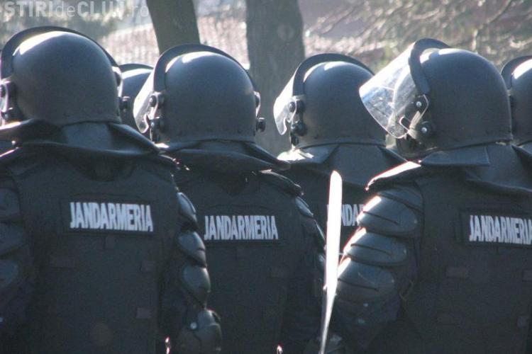 200 de jandarmi vor asigura ordinea publica la meciul CFR Cluj - AS Roma