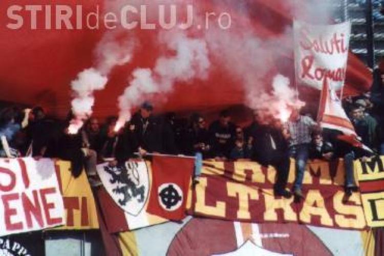 400 de suporteri ai echipei AS Roma, asteptati in Gruia