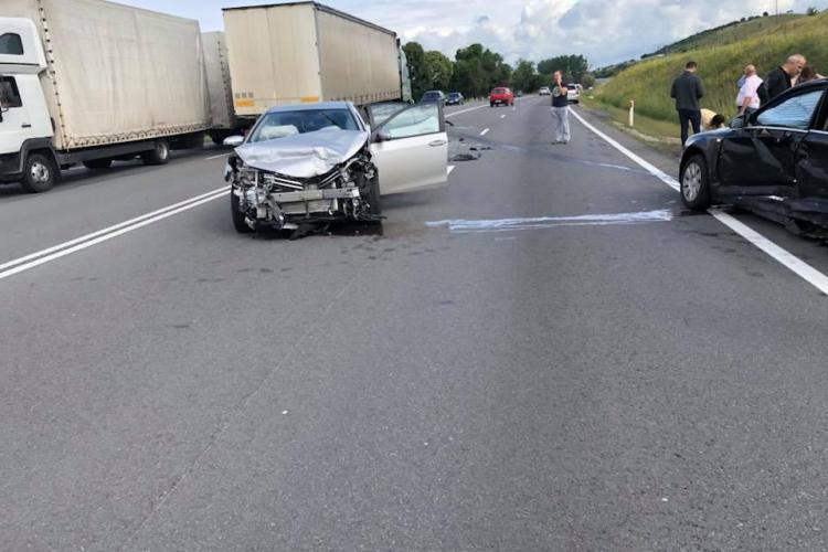ACCIDENT cu cinci victime pe drumul Cluj-Turda. Un șofer nu a acordat prioritate FOTO