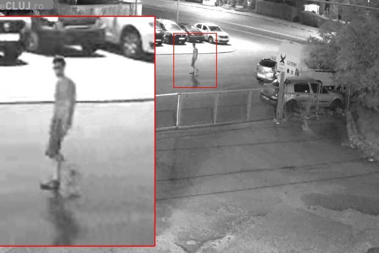 Imagini cu suspectul care a plantat cutia cu explozibil lângă mașina unui pompier, în Mănăștur FOTO/VIDEO