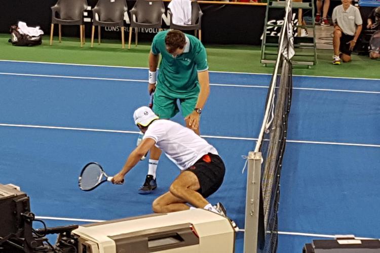 Spectacol la regalul de tenis de la Sports Festival! Goran Ivanisevic a rupt fileul - VIDEO