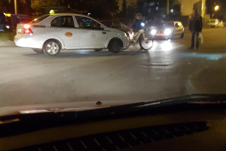 Biciclistă accidentată în Gheorgheni, la intersecția Brâncuși și Romul Ladea - FOTO