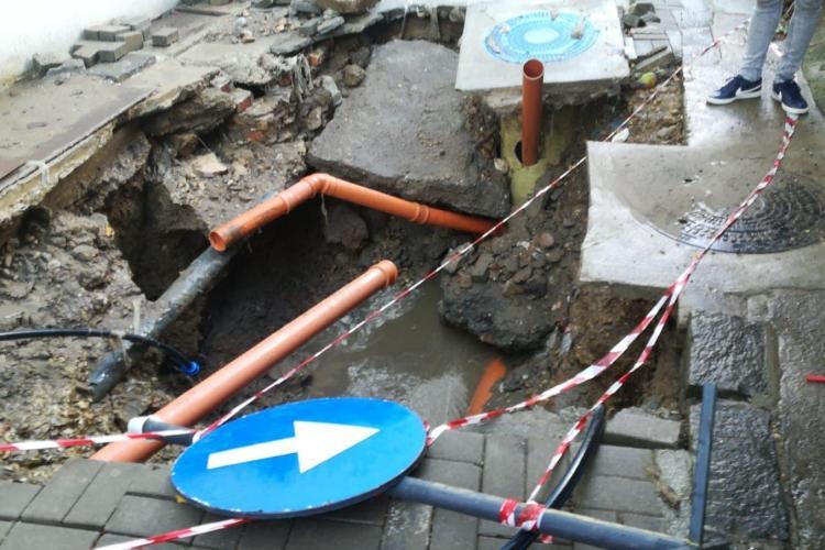 Cluj: Așa arată o canalizare în centrul Clujului. Primăria și Compania de Apă spun că nu e treaba lor - FOTO