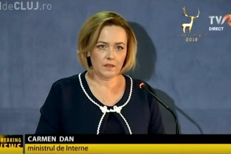 Carmen Dan NU a vrut să spună dacă a discutat cu Viorica Dăncilă în ziua protestelor violente