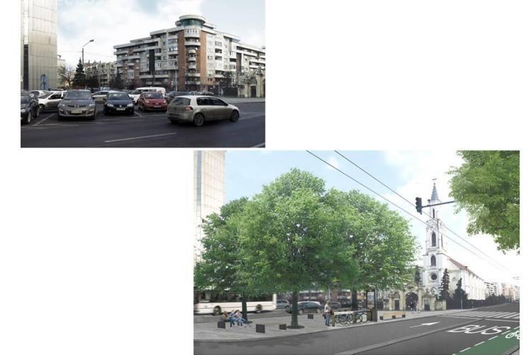 Planuri pentru modernizarea străzii 21 Decembrie 1989. Încă o parcare ar putea dispărea
