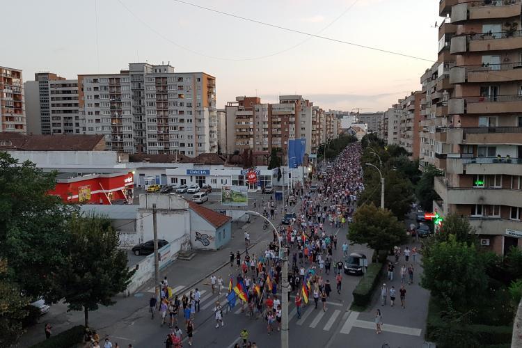 UPDATE: Peste 35.000 de oameni s-au strâns la protestul din Cluj FOTO/VIDEO