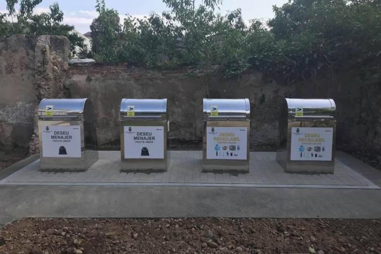 Pubele de gunoi îngropate la școlile clujene - FOTO
