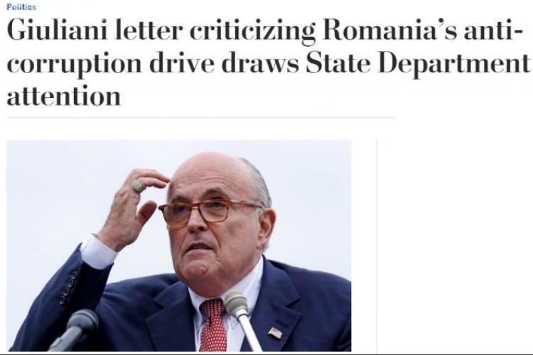 Giuliani susține că a vorbit și cu un oficial român despre scrisoare