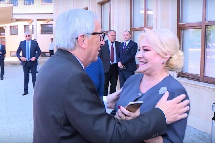 Imagini de la întânirea dintre Dăncilă și Juncker, prelucrate. De ce a fost tăiat sonorul? - VIDEO