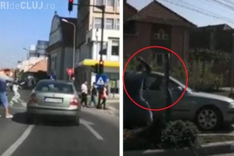 """VIDEO - Șofer surprins LIVE mergând haotic pe stradă. """"Așa ne omoară pe stradă!!! Respect celor care l-au oprit"""""""