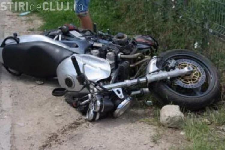 Un motociclist s-a făcut praf pe centura Apahida. Viteza l-a aruncat în șanț