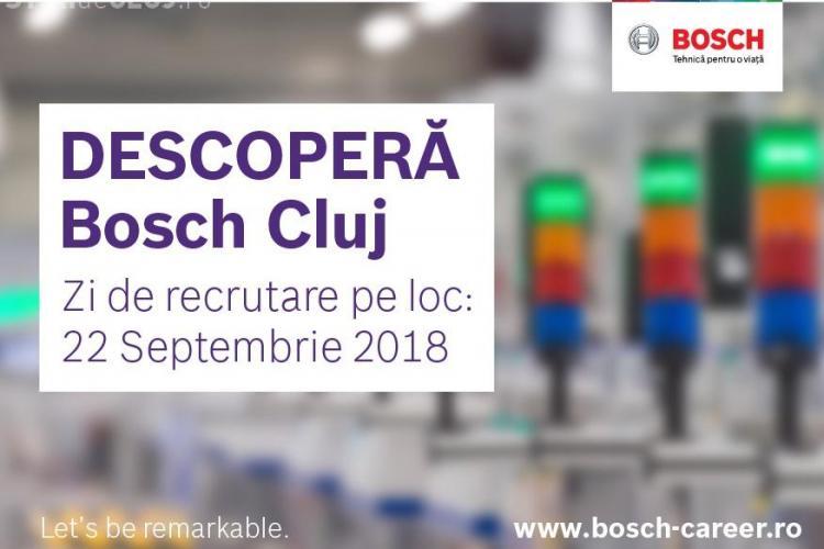 Descoperă Bosch Cluj: În 22 septembrie, Bosch Cluj te așteaptă la Ziua Recrutării la Bosch!